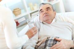 больной человека Стоковое Фото