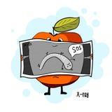 больной яблока Рентгеновский снимок Стоковая Фотография