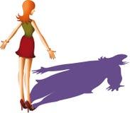Больн анорексией дама Стоковые Изображения RF