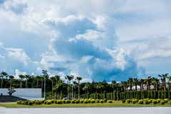 Большая белая предпосылка облака Стоковые Изображения RF