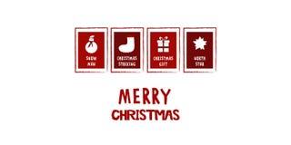 Большая белая рождественская открытка Стоковые Фотографии RF