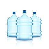 Большая бутылка с чистой водой Пластмасовый контейнер для охладителя бесплатная иллюстрация