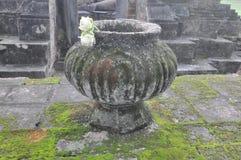 Большая ваза для священных цветков в парке Sukhothai историческом Стоковые Фотографии RF