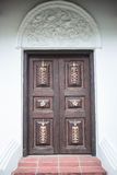 большая дверь деревянная Стоковое фото RF