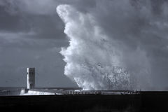 большая волна выплеска Стоковое фото RF