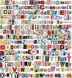Большая газета размера, алфавит клиппирований кассеты Стоковые Изображения