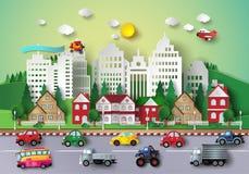 Большая городская жизнь бесплатная иллюстрация