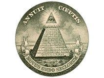 Большая государственная печать Соединенных Штатов на мы один макрос долларовой банкноты Стоковые Фото