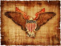 Большая государственная печать США на пергаменте иллюстрация штока