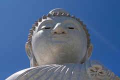 Большая голова скульптуры Будды Стоковые Изображения