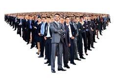 Большая группа людей полнометражная Стоковая Фотография
