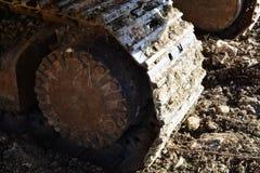 Большая гусеница экскаватора Стоковое Изображение RF