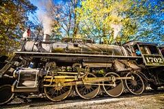 Большая езда поезда железной дороги закоптелых гор Стоковые Фото