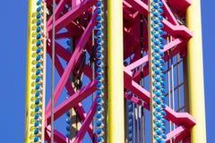 Большая деталь машины езды carousel летания Стоковая Фотография