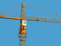 Большая желтая башня крана Стоковые Фото