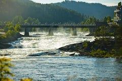 Большая запруда падений в Норвегии Стоковое Изображение
