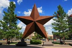Большая звезда украшенная в городе Остина Стоковое Изображение RF