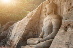 Большая каменная статуя Будды Стоковое фото RF