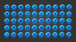 Большая кнопка сети комплекта Стоковое Изображение RF