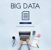 Большая концепция сети информационной технологии данных стоковое изображение