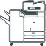 Большая копировальная машина принтера офиса Стоковое Фото