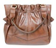 Большая коричневая изолированная сумка дам, стоковые изображения rf