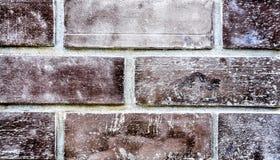 Большая коричневая кирпичная стена. Стоковое Фото