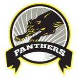 Большая кошка пантеры рычая Стоковые Изображения