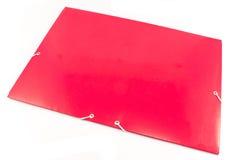 Большая красная изолированная папка портфолио стоковые фотографии rf