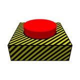 Большая красная кнопка стоковая фотография