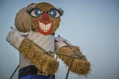 Большая кукла соломы Стоковое Фото