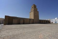 Большая мечеть Kairouan в Тунисе Стоковое Изображение RF