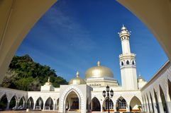 Большая мечеть Lawas, Саравак, Малайзия Стоковое Фото