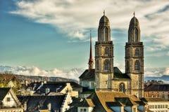 Большая монастырская церковь HDR Стоковые Изображения RF