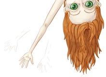 Большая наблюданная девушка Peeking сверх и развевая Стоковые Фото