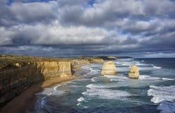 Большая дорога океана, 12 апостолов, Австралия Стоковые Фотографии RF