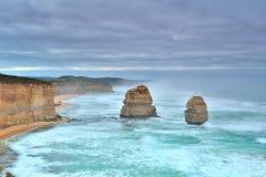 Большая дорога океана - 12 апостолов в шторме Стоковые Фотографии RF