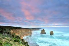Большая дорога океана - 12 апостолов в шторме Стоковое Изображение