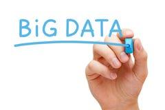 Большая отметка сини данных стоковая фотография