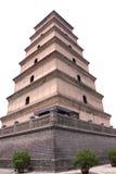 Большая одичалая пагода в Сиане, Китай гусыни стоковые изображения rf