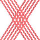 Большая предпосылка дизайна логотипа формы красного цвета x Стоковое Изображение