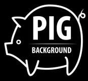 Большая предпосылка свиньи Стоковые Фото