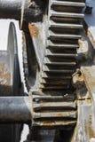 Большая промышленная система шкива с цепными колесами стоковое изображение rf