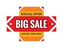 Большая продажа - специальное предложение - ограниченное время только Творческая иллюстрация вектора шаблона знамени концепции аб иллюстрация вектора