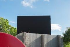 Большая пустая афиша на стене улицы Стоковое фото RF