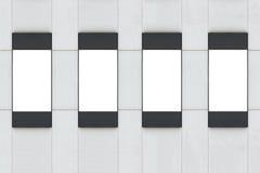 Большая пустая афиша на стене улицы Стоковые Изображения RF