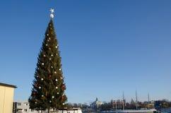 Большая рождественская елка в Стокгольме Стоковое Изображение