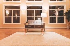 Большая роскошная внутренняя живущая комната Стоковая Фотография RF