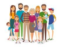 большая семья счастливая Несколько поколений Стоковые Изображения