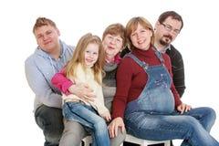 большая семья счастливая Стоковая Фотография